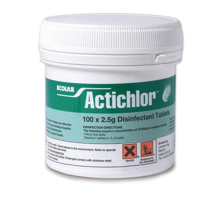 Actichlor Disinfectant Tablets 2.5g   Medical Supermarket