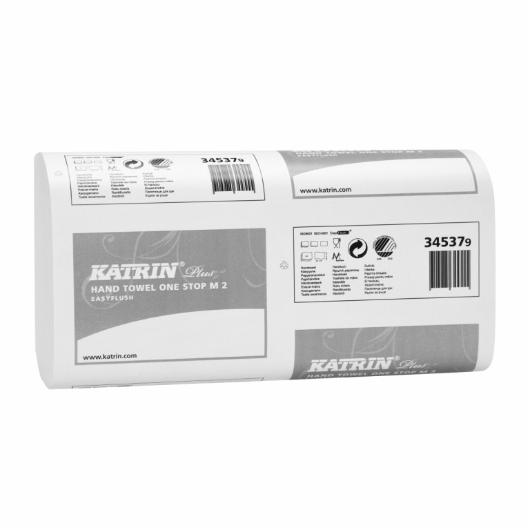 Katrin Plus 'M' Fold 2 Ply Easy Flush Hand Towels | Medical Supermarket
