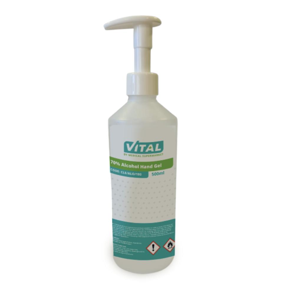 VITAL Alcohol Hand Sanitising Gel 70%, 500ml | Medical Supermarket
