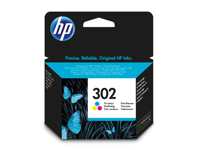 HP No.302 Ink Cartridge Tri-Colour | Medical Supermarket