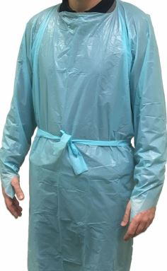 Fluid Resistant Disposable Gown with Thumb Loop | Medical Supermarket