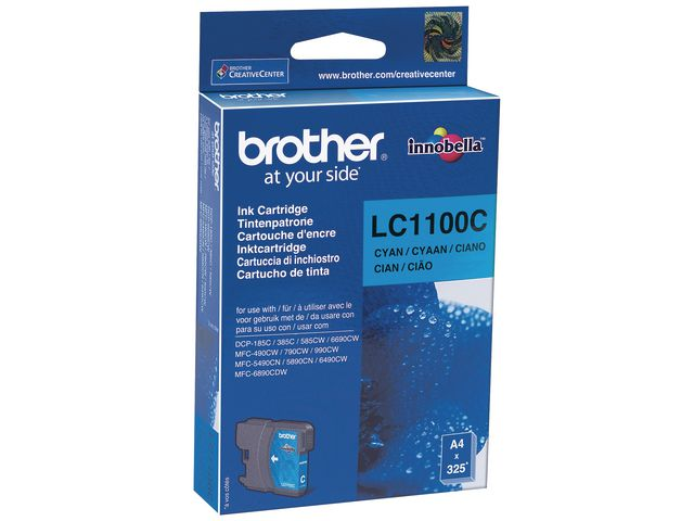 Brother LC1100C InkJet Print Cartridge Cyan | Medical Supermarket