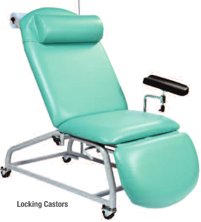 Fixed Height Reclining Phlebotomy Chairs Adjustable Feet   Medical Supermarket