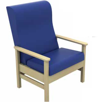 Atlas High-Back Bariatric Arm Chair With Wings Vinyl Fabric | Medical Supermarket