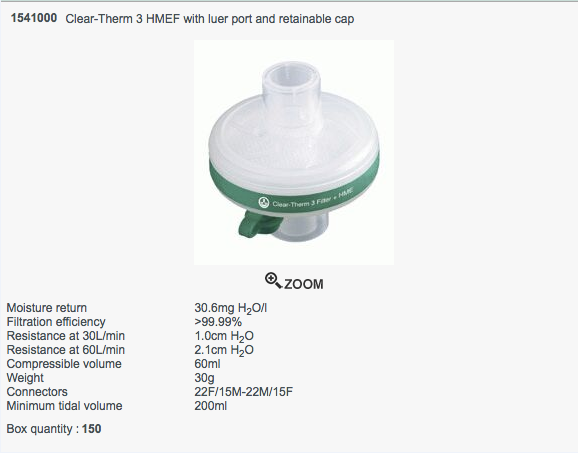 Clear-Therm 3 HMEF Luer Port and a Retainable Cap | Medical Supermarket