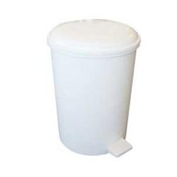White 12 Litre Pedal Bin | Medical Supermarket