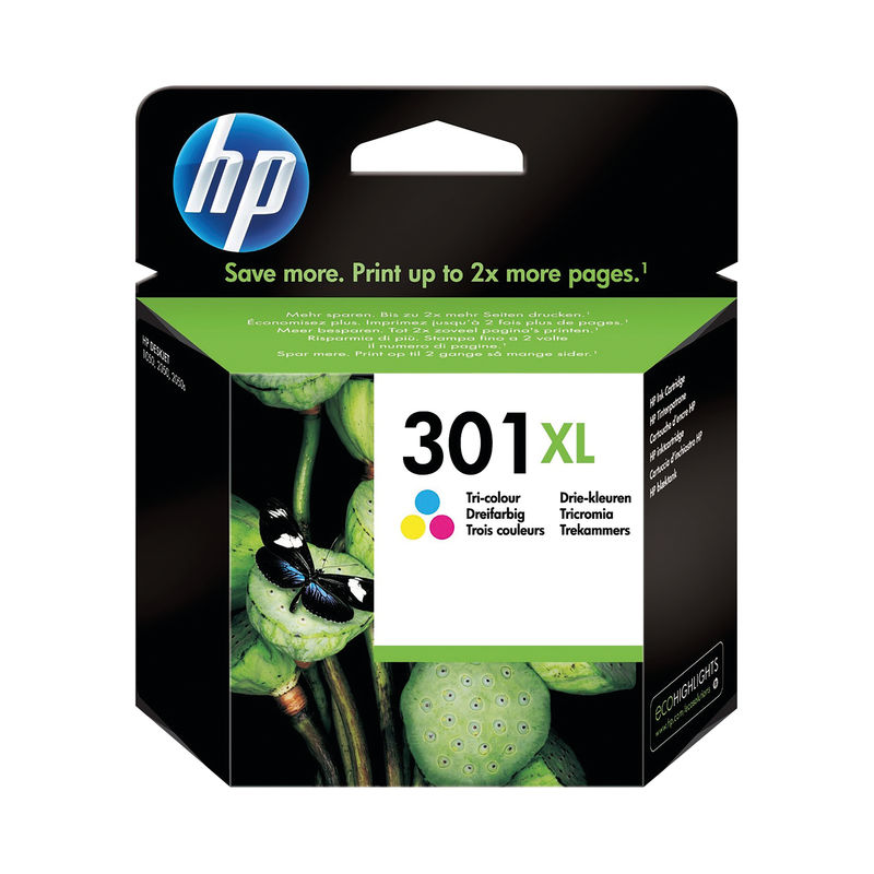 HP No.301XL High Capacity Ink Cartridge Tri-Colour | Medical Supermarket
