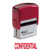 Colop Printer 20 CONFIDENTIAL Self-Inking Stamp Green | Medical Supermarket