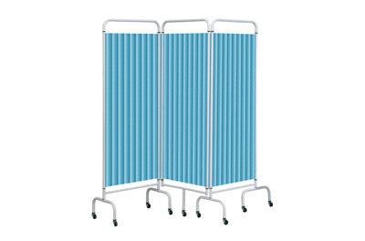 Sunflower Mobile Folding Screens with Disposable Curtains 3 Section | Medical Supermarket