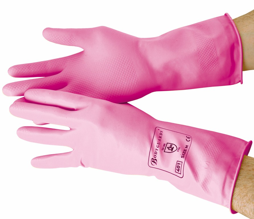 Pink Standard Household Gloves Large | Medical Supermarket