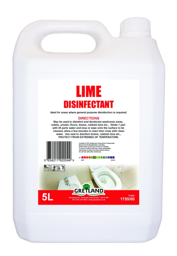 Lime Disinfectant Liquid 5 Litre- Pack of 1 | Medical Supermarket