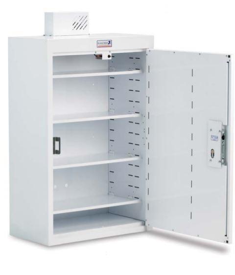 Single Door Drug & Medicine Cabinet - 300 x 300 x 600mm | Medical Supermarket