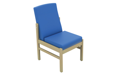 Atlas Patient Low Back Side Chair Without Arms Vinyl Fabric | Medical Supermarket