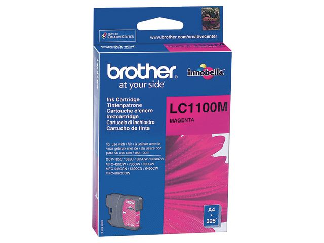 Brother LC1100M InkJet Print Cartridge Magenta | Medical Supermarket