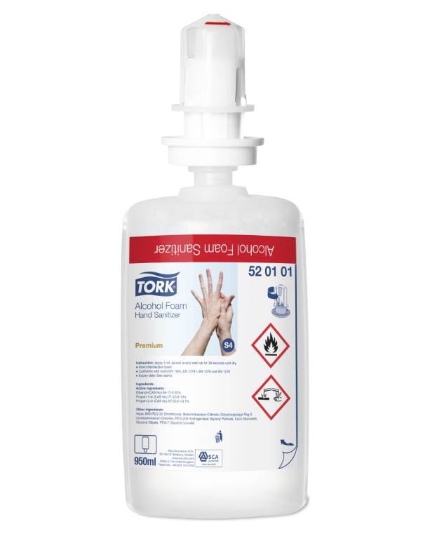 Tork Alcohol Foam Hand Sanitiser | Medical Supermarket
