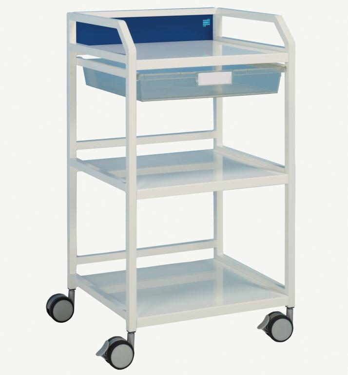 Howarth 4 Trolley Grey Panels | Medical Supermarket