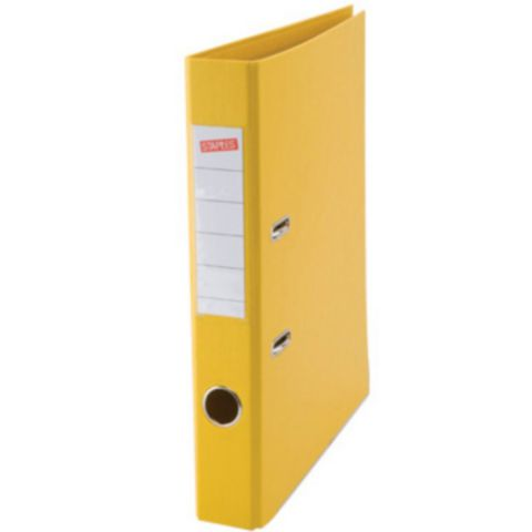 A4 50mm Plastic Lever Arch Files Yellow   Medical Supermarket