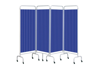 Sunflower Mobile Folding Screens with Disposable Curtains 4 Section | Medical Supermarket
