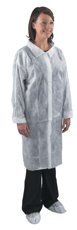 White Visitor Coats Large | Medical Supermarket