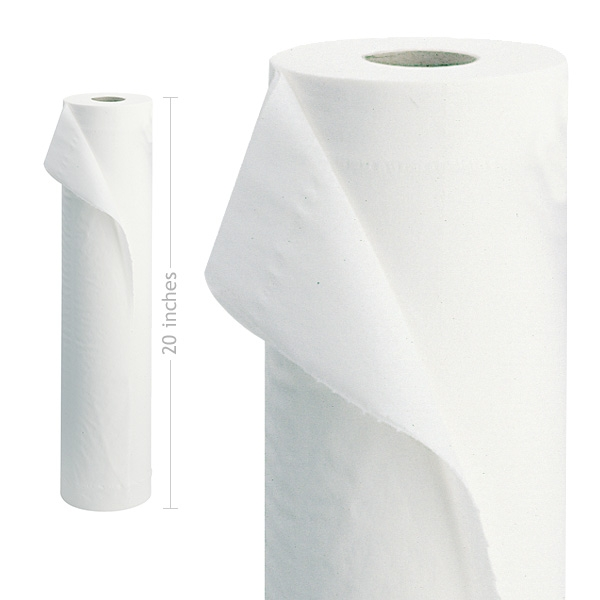 """Luxury White 2 Ply 20"""" Couch Rolls 