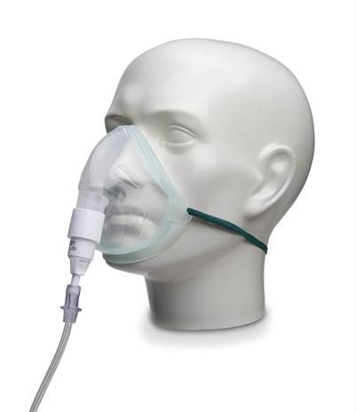 EcoLite, Adult Oxygen Mask with 28% Venturi Valve, White and 1.8m Tube | Medical Supermarket