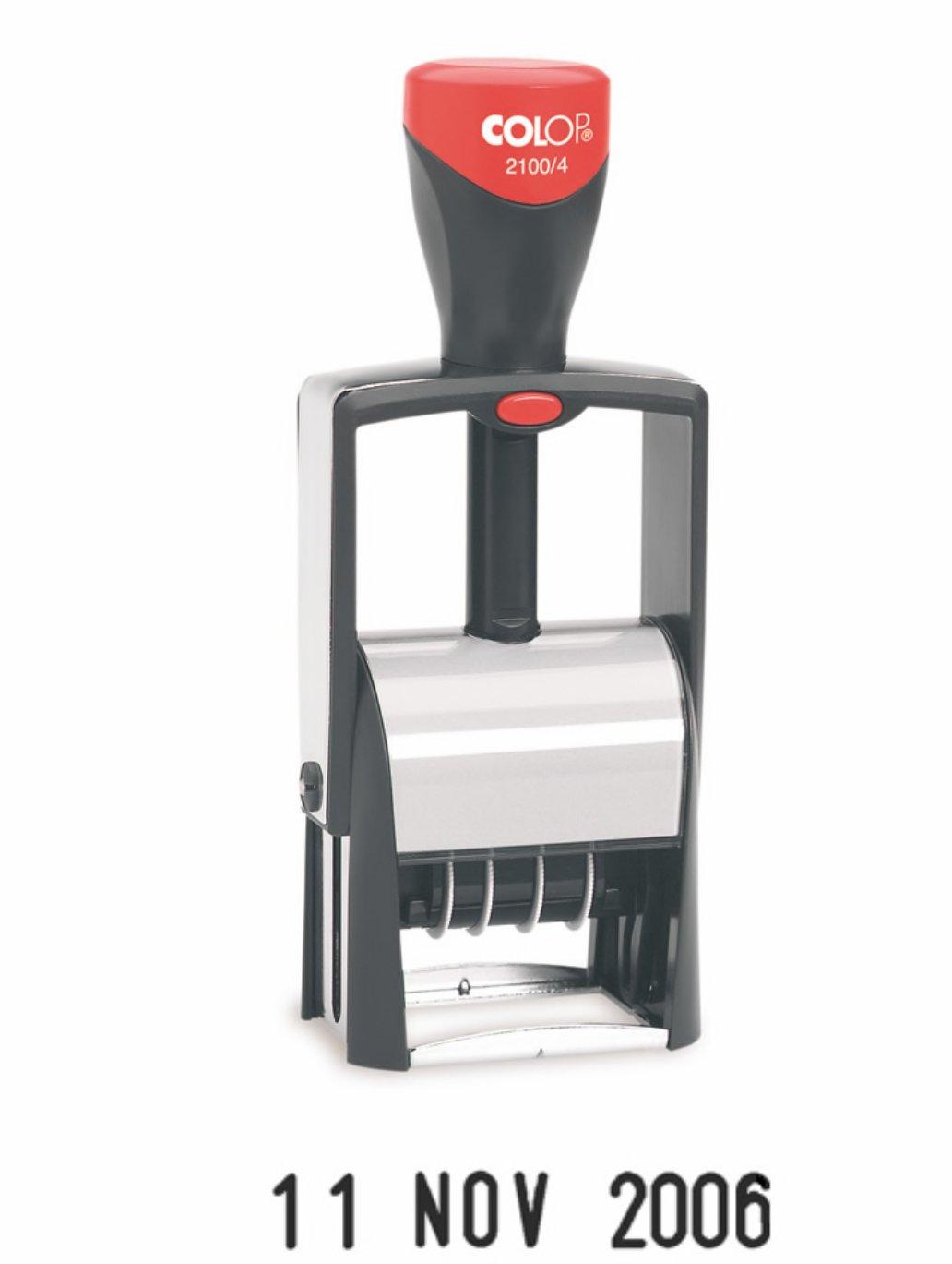 Colop 2100/4 Self-Inking Line Date Stamp Black | Medical Supermarket