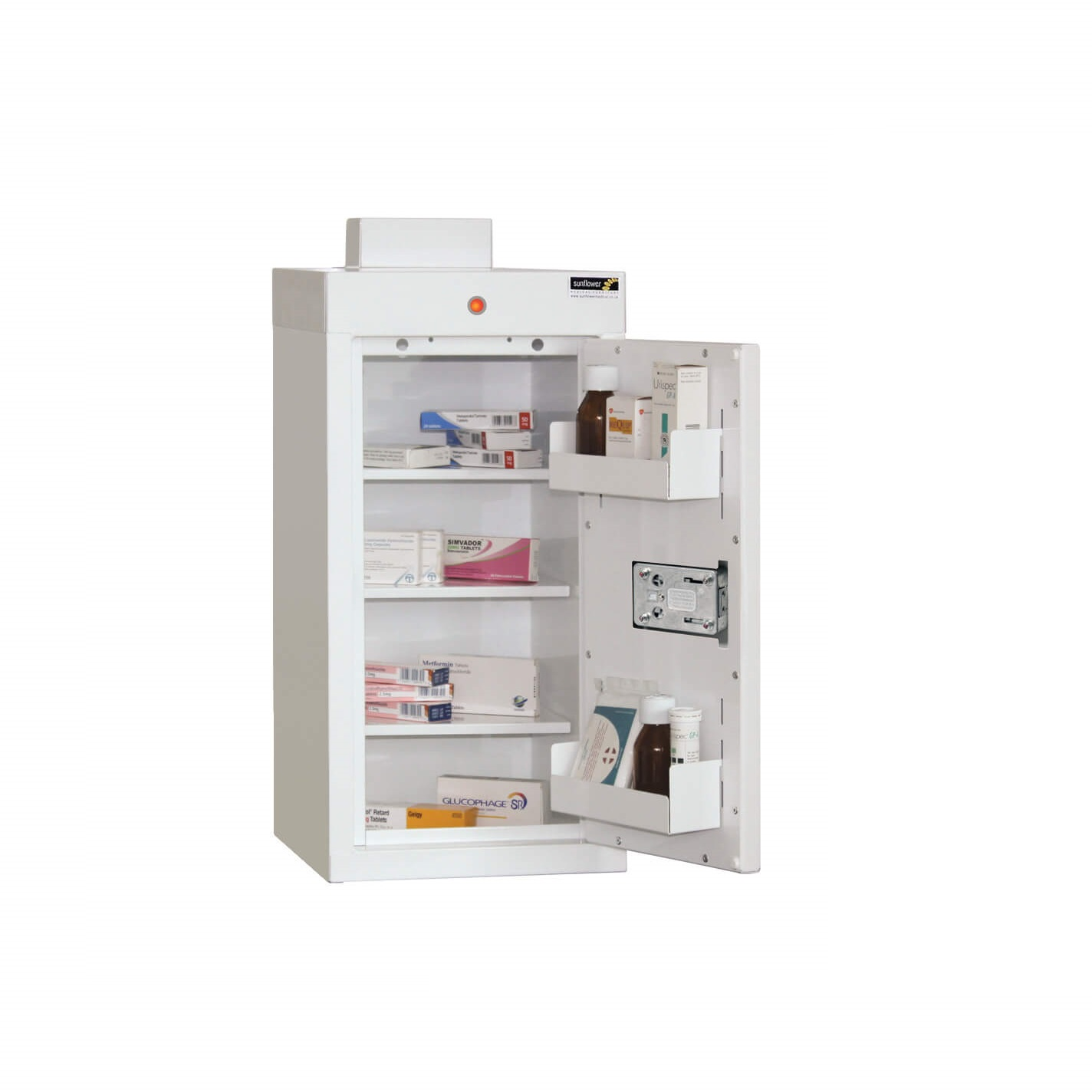 Medicine Cabinet - 3 shelves/2 door trays/1 door 60cm x 30cm x 30cm | Medical Supermarket