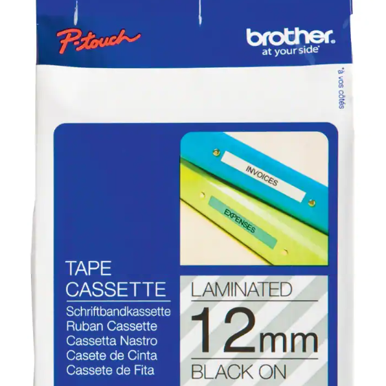 Brother TZeS131 12mm Black on Clear P-Touch Labelling Tape | Medical Supermarket
