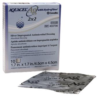 Aquacel AG Hydrofiber Dressing 10cm x 10cm | Medical Supermarket