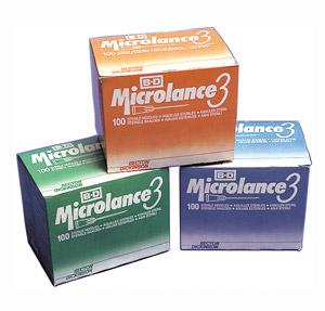 "BD Sterile Microlance 3 Needles 23G x 1"" (Blue) | Medical Supermarket"