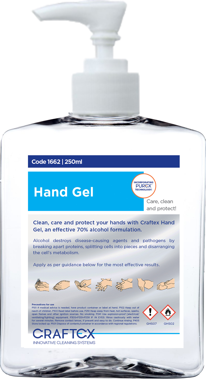 70% Alcohol Hand Sanitising Gel 250ml with Pump and Flip Cap | Medical Supermarket