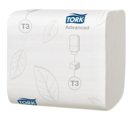 Tork Folded Toilet Paper (242 sheets) White Advanced 2ply - T3 | Medical Supermarket