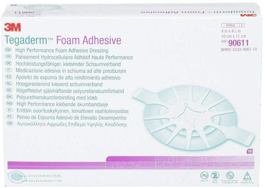 Tegaderm Foam Adhesive Wrap Dressing 10cm x 11cm   Medical Supermarket