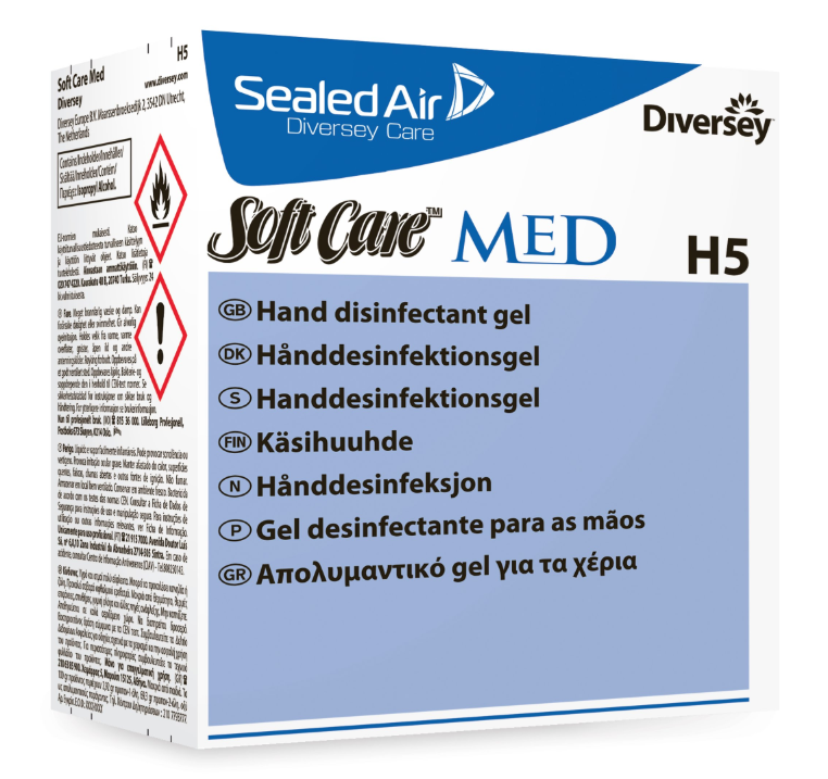 Diversey H5 Soft Care Disinfectant Gel | Medical Supermarket