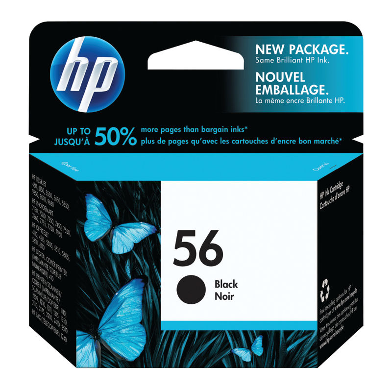 HP No.56 Black Ink Cartridge Single Pack | Medical Supermarket