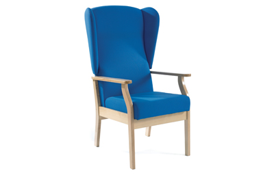 High Back Patient Arm Chair with Wings Vinyl Fabric | Medical Supermarket