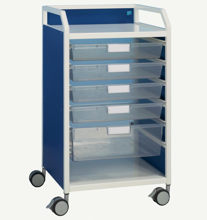 Howarth 1 Trolley Blue Panels   Medical Supermarket