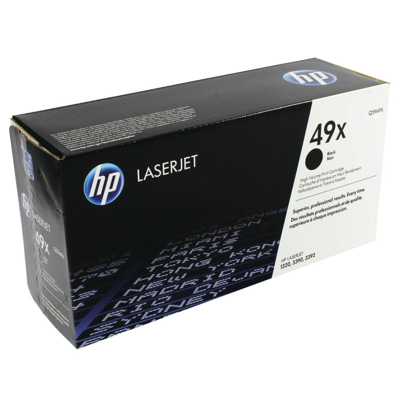 HP No.49X High Capacity Black Toner Single Pack | Medical Supermarket