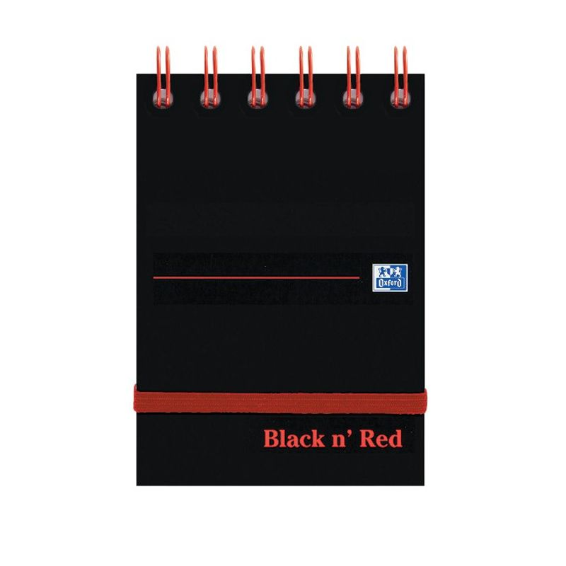 Oxford Black N' Red Twinwire Notebook A7 | Medical Supermarket