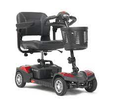 Scout Venture Four Wheel Mini Scooter with 20Ah Batteries - Red   Medical Supermarket