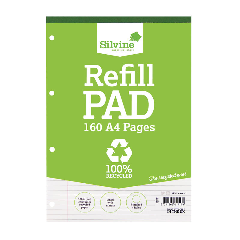 Refill Pad A4 Ruled Recycled | Medical Supermarket