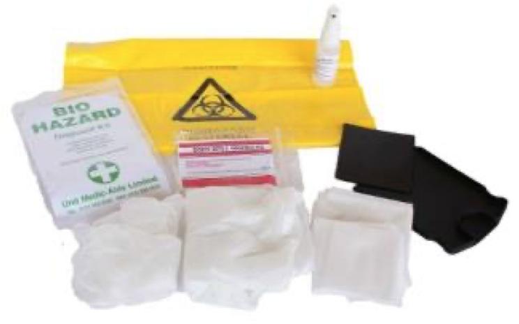 Biohazard Disposal Kits Single Application in Yellow Box   Medical Supermarket