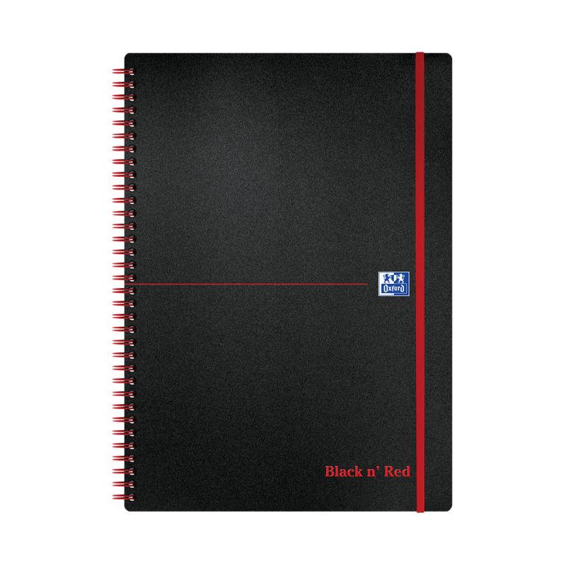 Black n Red A4 Wirebound Notebook Ruled - Polypropylene | Medical Supermarket