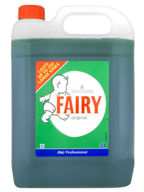 Fairy Professional Washing Up Liquid Original 5L Pack of 1 | Medical Supermarket