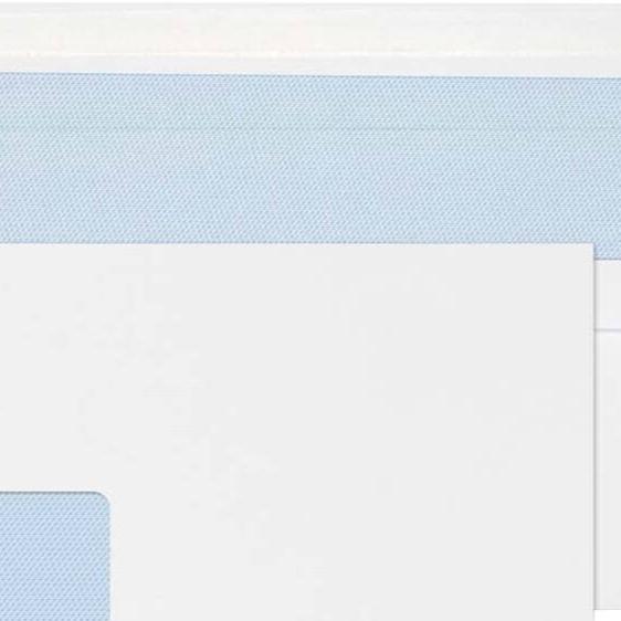 Mailing Machine Wallets 114 x 235mm, White, Window | Medical Supermarket