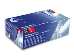 Blue Nitrile Powder Free Exam Gloves Large | Medical Supermarket