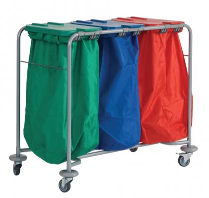 Triple Laundry Trolley | Medical Supermarket