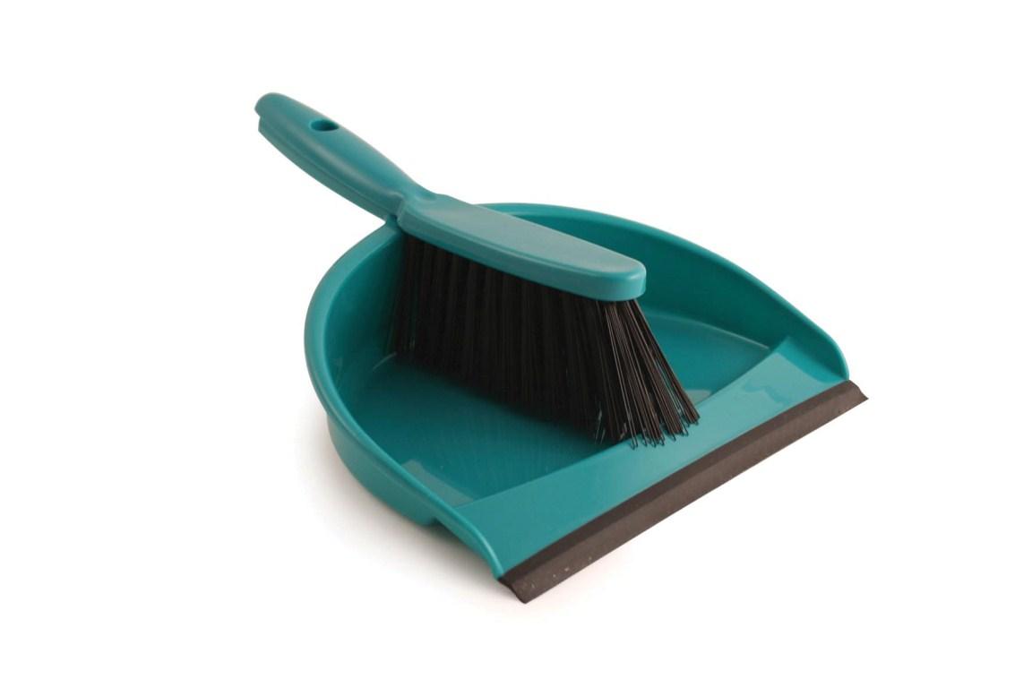 Plastic Dustpan & Brush Set Green | Medical Supermarket