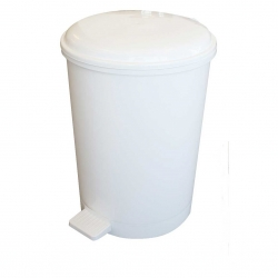 20 Litre White Pedal Bin | Medical Supermarket
