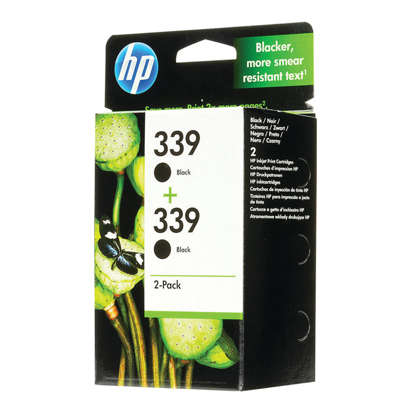 HP No.339 High Capacity Black Ink Cartridge (twin pack) | Medical Supermarket